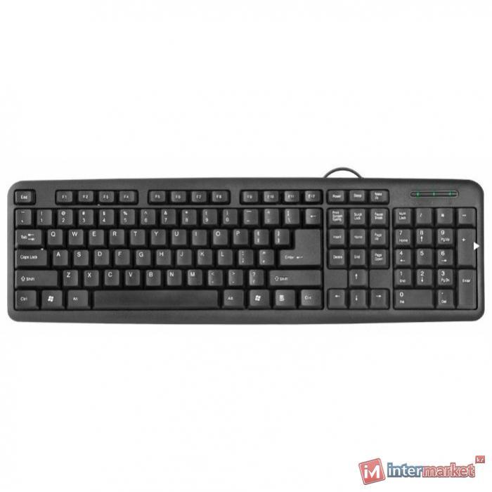 Клавиатура проводная Defender HB-420 RU черный