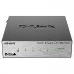 Коммутатор, D-Link DES-1005D/O2B, Настольный, Неуправляемый коммутатор с 5 портами 10/100Base-TX, Корпус металл