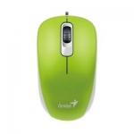 Компьютерная мышь, Genius, DX-110, Оптическая, 1000dpi, USB, Длина кабеля 1,6 метра, Зелёная