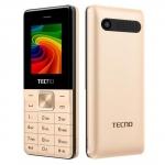 "Мобильный телефон Tecno T301, 1.77"", 128x160/BT/microSD32Gb/2xSIM/CAM/1150mAh, Gold"