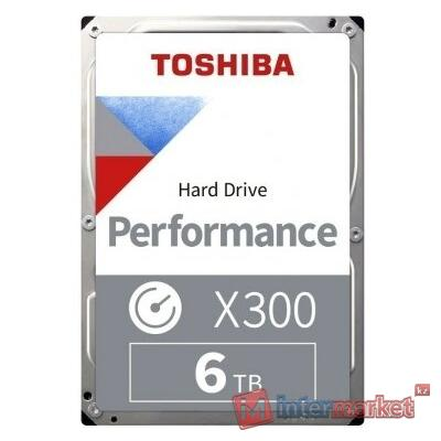 Жесткий диск HDD 6Tb TOSHIBA X300 SATA 6Gb/s 7200rpm 256Mb 3,5